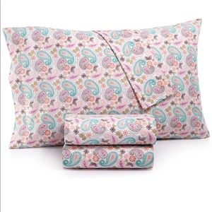 Macys Twin Paisley Sheet Set Essentials Collection